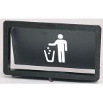 Trash Receptacle Door. Large, Flush Mount
