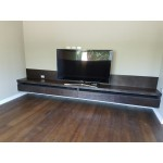 Living room TV stand Mahogany, Ply Stained Soft closing drawers