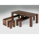 5 star dining bench. Mahogany stained, 2400x400x450 bench