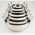 Stainless Steel Balti Dish, 18 Oz. 5-1/2 Dia.x1-1/2 H - 72/Case