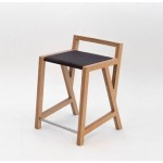 High season bar stool. Mahogany.