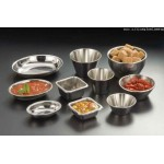 SAUCE CUP, STAINLESS STEEL, OVAL, 1.5 OZ. 2-3/4 DIA. X 2 W X 2-1/2 H
