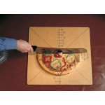 PIZZA SLICE CUTTING GUIDE, 6-SLICE, 20 SQ. 20 SQ X 1/4 H