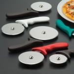 PIZZA CUTTER, PLASTIC HANDLE W/BLACK HANDLE, 4 DIA. 4 DIA. WHEEL W/BLACK HANDLE
