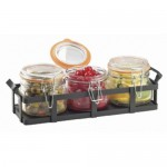 Cal-Mil 3336-13 Rustic Jar Condiment Display (34oz Jars)