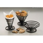 Conical Basket, Wrought Iron, Flat Coil, 8-1/2 8-1/2 Dia.x3-3/4 H - 12/Case
