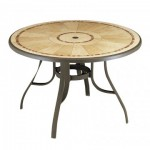 "48"" Table with Metal Legs, Round,  Louisiana Bronze Mist - 1/Case"