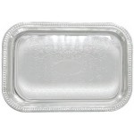 """20"""" x 14"""" Serving Tray, Oblong, Chrome Plated - 12/Case"""