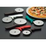 PIZZA CUTTER, PLASTIC HANDLE W/WHITE HANDLE, 4 DIA. 4 DIA. WHEEL W/ WHITE HANDLE