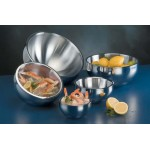 Stainless Steel, Satin Bowl, Double Wall, Angled, 54 Oz. 8 Dia.x4-5/8 H - 6/Case