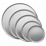 """9"""" Coupe Style Pizza Tray, Alu - 36/Case"""