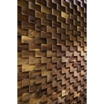 Fish scale feature wall. per square meter