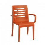 Stacking Armchair, Essenza Orange - 4/Case