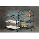 Stand, Rectangular, Two-Tier 23-3/8 Lx12-7/8 Wx23-1/2 H - 1/Case