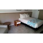 City tropics bedside table 450x450x450 - HPL, raintree, ply.