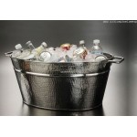 Party Tub, Hammered 19-1/2 Lx9 Wx13-1/2 H - 1/Case