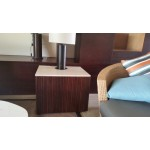 Square Side table. Style 300. Mahogany.