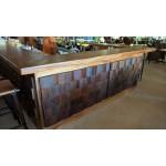 Tokoriki bar counter. Custom design. Raintree, coconut, ply, pine