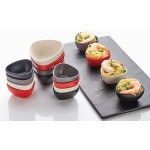 Sauce Cup, Bamboo Fiber, Triangular, Black, 1.5 Oz. 2-1/2 Trianglex1-3/8 H - 72/Case