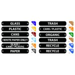 """8""""x1.5"""" Recycle Label Kit, Assorted - 1/Case"""