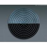 "14"" Superperforated Pizza Disk - Hard Coat Anodized Aluminum - 24/Case"