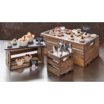 "6.25""x5.75"" Crate, Fir Wood, Vintage - 8/Case"