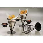 CONICAL BASKET, WROUGHT IRON, ONE-CONE 5 DIA. X 9 H