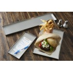 TRAY, STAINLESS STEEL 12 L X 8-1/4 W X 1/2 H
