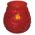 Candle Holder with Tea light, Red Glass