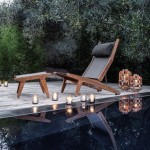 7 sky lounger with foot rest. Mahogany.