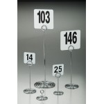 NUMBER STAND, STAINLESS STEEL, CHROME, SWIRL, 1-1/2 H