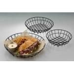 Basket, Wire Wheel Basket, Black, 8 Dua. 8 Dia.x2 H - 24/Case