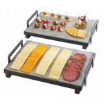 Cal-Mil 3487-1014-13 Rectangle Stands for Faux Cement or Slate Platters (10Wx20Dx3.25H)