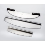 PIZZA ROCKER KNIFE, STAINLESS STEEL 13-3/4 L X 3-1/2 H X 1 DIA. HOLE