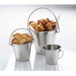 STAINLESS STEEL PAIL, 1 QT. 4-5/8 DIA. X 5 H