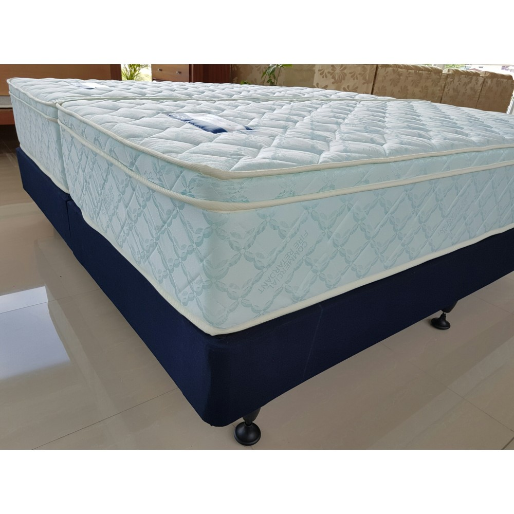 mattress king commercial. Sleepmaker Hotel Deluxe Split King Mattress + Commercial Base. Upholstered