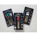 MINI TIP MARKERS, 4PK, ASSORTED WHITE, BLUE, GREEN, RED