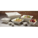 Porcelain Bowl, Square, 193 Oz. 12 Lx12 Wx5 H - 4/Case
