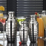 COCKTAIL SHAKER, STAINLESS STEEL, BEEHIVE, 24 OZ.