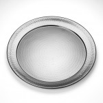STAINLESS STEEL, HAMMERED TRAY, ROUND, 20 20 DIA. X 1-1/8 H