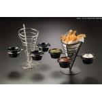 Conical Basket, Stainless Steel, Three-Cone Basket W/ Three Ramekins 5 Dia.x9 H - 12/Case