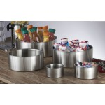 Stainless Steel, Satin Bowl, Double Wall, 17 Oz. 4-3/4 Dia.x2-1/2 H - 12/Case