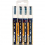 SMALL TIP MARKERS, 4PK, WHITE