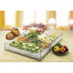 Cal-Mil 1399-12 Clear Salad Bar Ice Housing (24Wx16Dx4.25H)