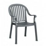Dining Armchair, Colombo Charcoal - 4/Case