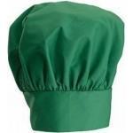 "13"" Chef Hat, Velcro Closure, Bright Green - 24/Case"