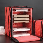 PIZZA DELIVERY BAG W/RACK, DELUXE, 14 H 19 SQ. 14 H HOLDS UP TO 6 PIZZA BOXES