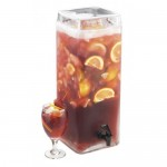 Cal-Mil 1733-3 Square Glass Infusion Dispenser (7Wx9Dx19H - 3 Gallon)