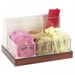 Cal-Mil 3013-55 Luxe Condiment and Stir Stick Organizer (Stainless Steel)