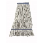 24 Oz. 600g, Mop Head, Looped End, White Yarn - 20/Case
